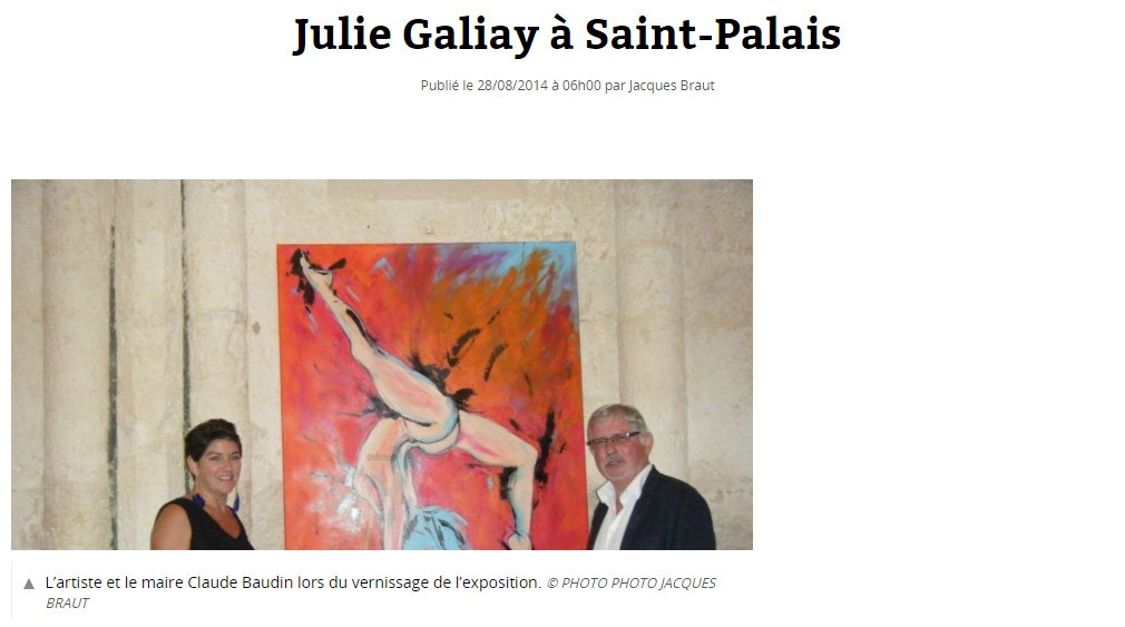 Julie Galiay à Saint Palais