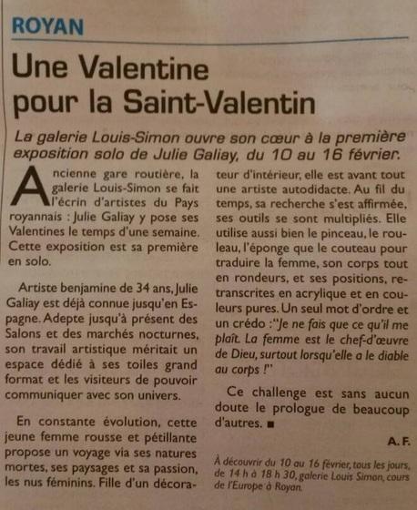 Une valentine pour Saint Valentin